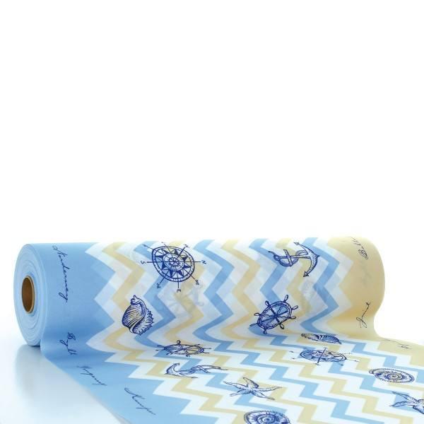 Tischläufer Maritim in blau aus Linclass® Airlaid 40 cm x 24 m, 1 Stück