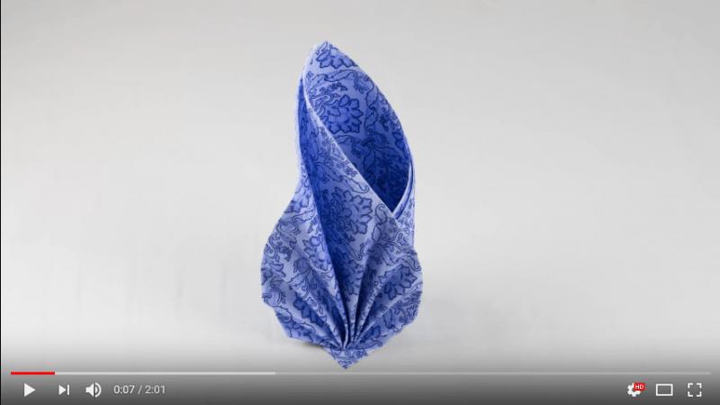 Servietten falten Hochzeit – einfache Video Anleitungen