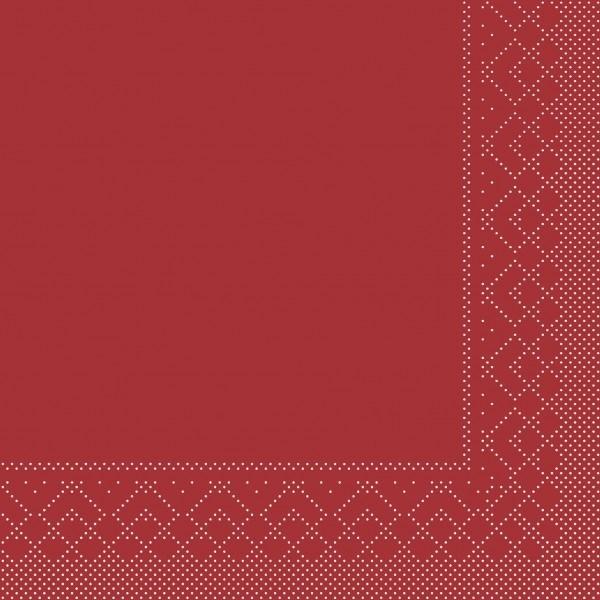 Serviette Bordeaux aus Tissue 40 x 40 cm, 3-lagig, 20 Stück