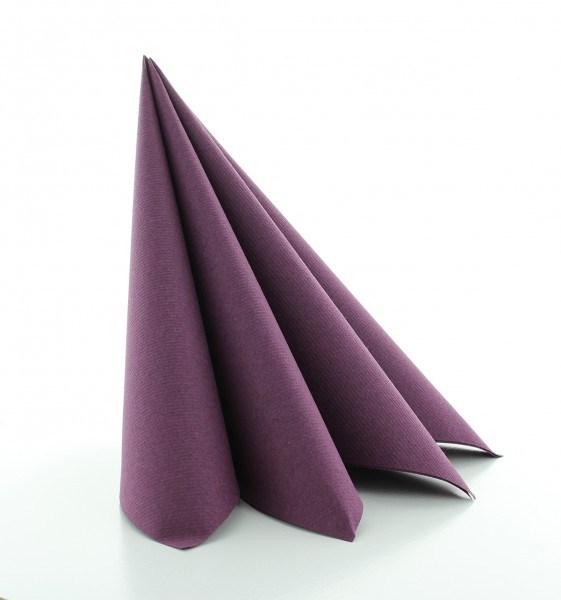 Serviette Pflaume aus Linclass® Airlaid 40 x 40 cm, 12 Stück