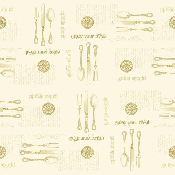 Tischdecke Elisabeth in Gold-Champagner aus Linclass® Airlaid 80 x 80 cm, 20 Stück