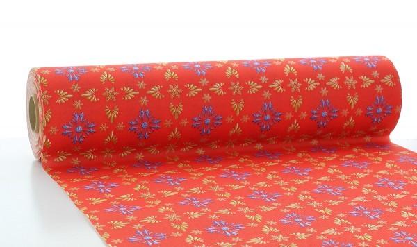Tischläufer Scarlett in Rot-Blau aus Linclass® Airlaid 40 cm x 24 m, 1 Stück