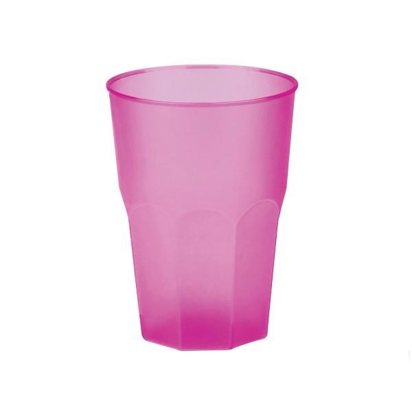 Mehrweg-Cocktailglas aus Plastik, Pink-gefrostet, 420ml, 6 Stück