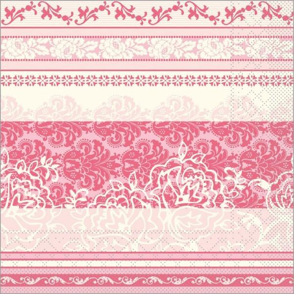 Serviette Thea in altrosa aus Tissue 40 x 40 cm, 100 Stück