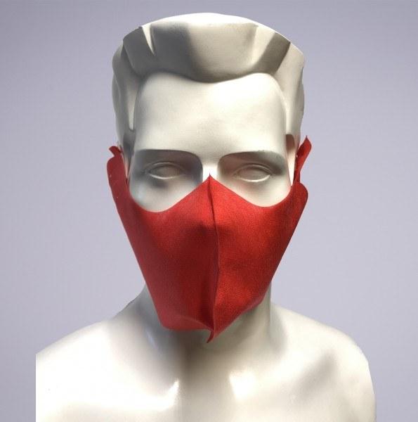 Sovie Care Einweg Behelfs- Mund- und Nasenmaske M4 in Rot aus PP-Vlies - 25 Stück - Masken