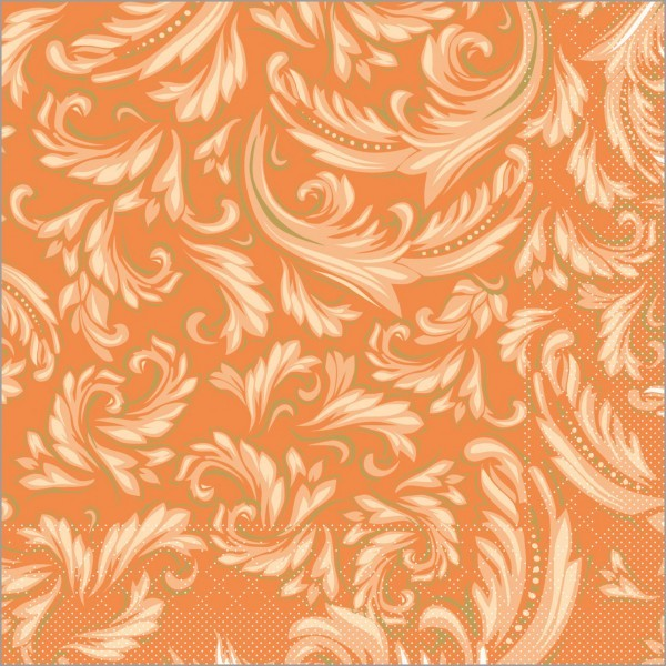 Serviette Cascade in terrakotta aus Tissue 40 x 40 cm, 100 Stück