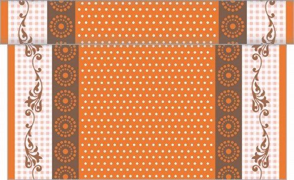 Tischläufer Rabea in Orange aus Linclass® Airlaid 40 cm x 4,80 m, 1 Stück
