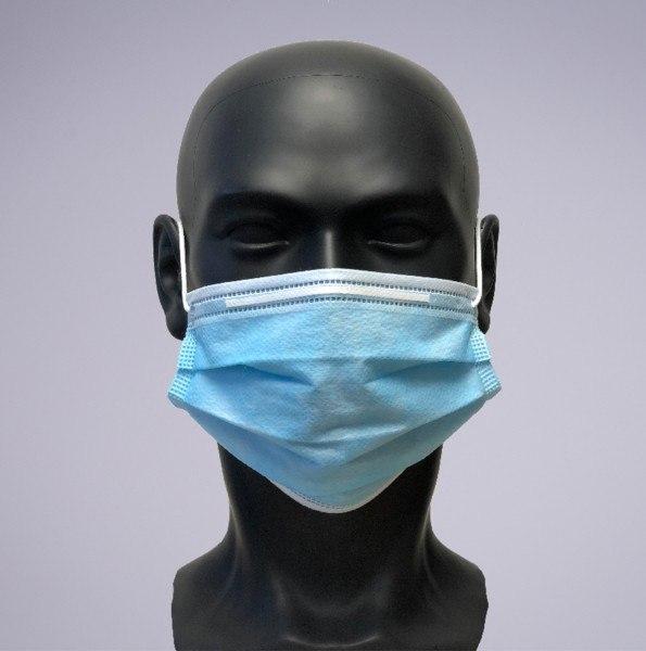 Einweg OP-Masken mit integrierten Nasenbügel - 50 Stück