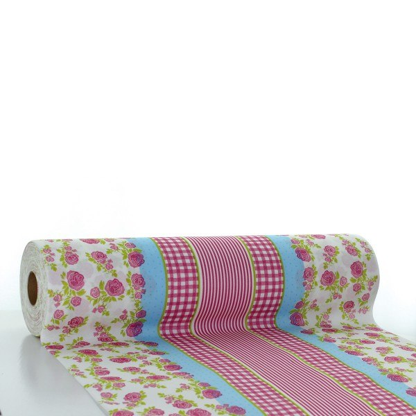 Tischläufer Vichy in rosa aus Linclass® Airlaid 40 cm x 24 m, 1 Stück