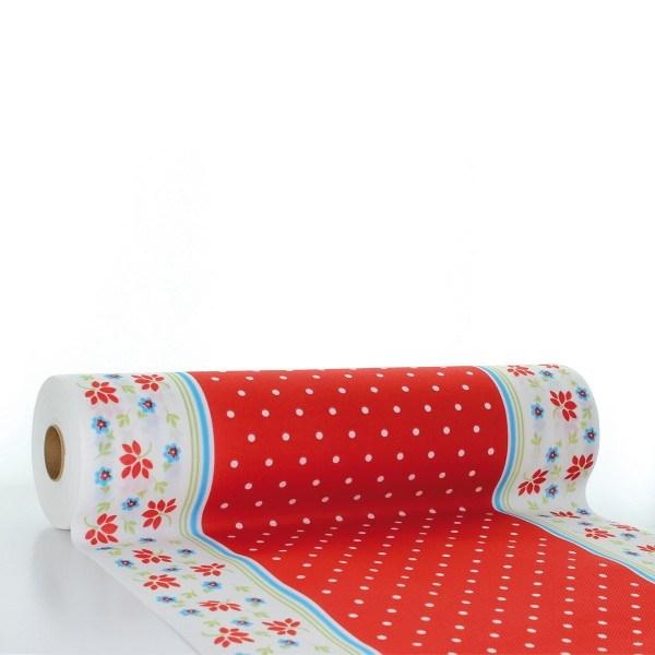 Tischläufer Lea in rot aus Linclass® Airlaid 40 cm x 24 m, 1 Stück
