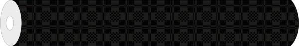 Papier-Tischdeckenrolle Damast in Schwarz aus Papier 100 cm x 25 m, 1 Stück