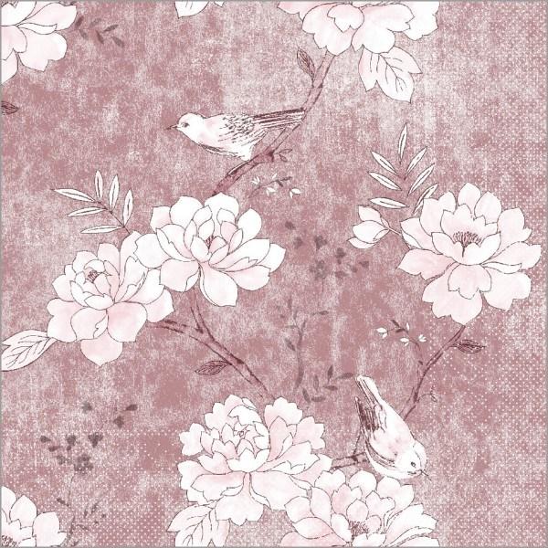 Serviette Maylin in Rose aus Tissue 33 x 33 cm, 100 Stück