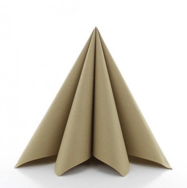 Serviette in Naturbraun aus Linclass® Airlaid 40 x 40 cm, 50 Stück