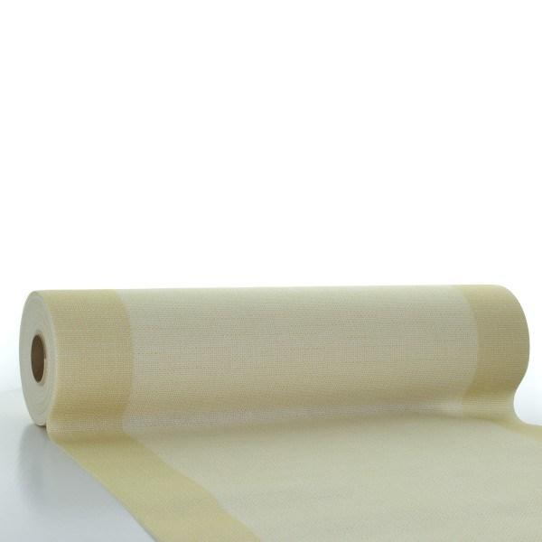 Tischläufer Mailand in beige aus Linclass® Airlaid 40 cm x 24 m, 1 Stück
