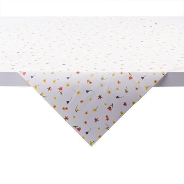 Tischdecke Betty in weiß mit Pearl Coating (wasserabweisend) 80 x 80 cm, 15 Stück