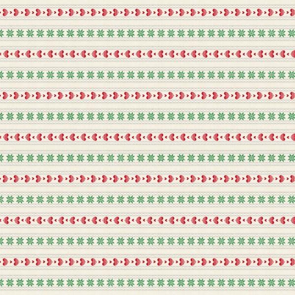 Tischdecke Trixi in Rot-Grün aus Linclass® Airlaid 80 x 80 cm, 1 Stück