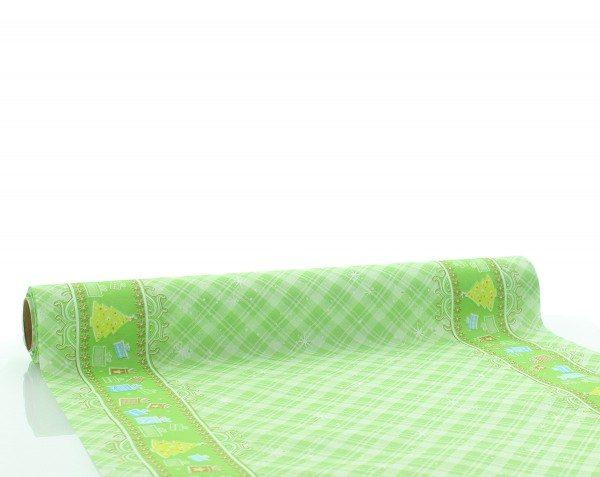 Tischläufer Joy in Grün aus Linclass® Airlaid 40cm x 4,80m, 1 Stück