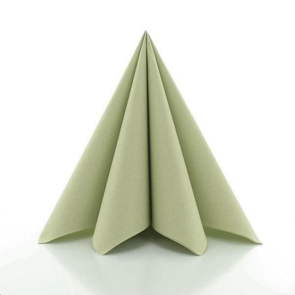Serviette in Oliv aus Linclass® Airlaid 40 x 40 cm, 50 Stück