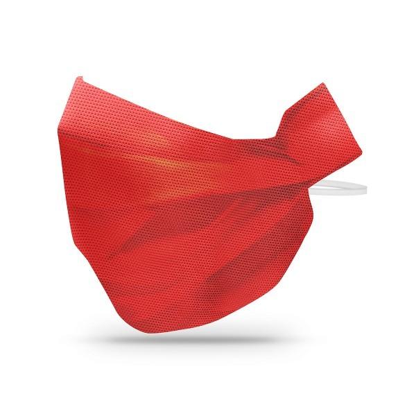 Sovie Care Einweg Behelfs- Mund- und Nasenmaske M3 in Rot aus PP-Vlies - 50 Stück - Masken