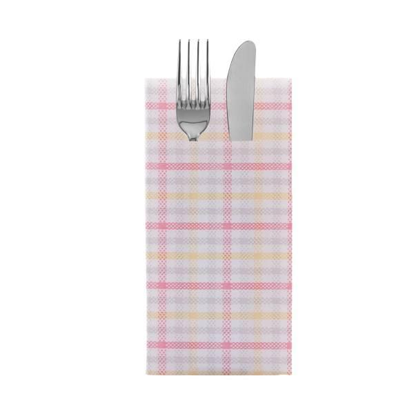 Besteckserviette Emil in rosa aus Linclass® Airlaid 40 x 40 cm, 100 Stück