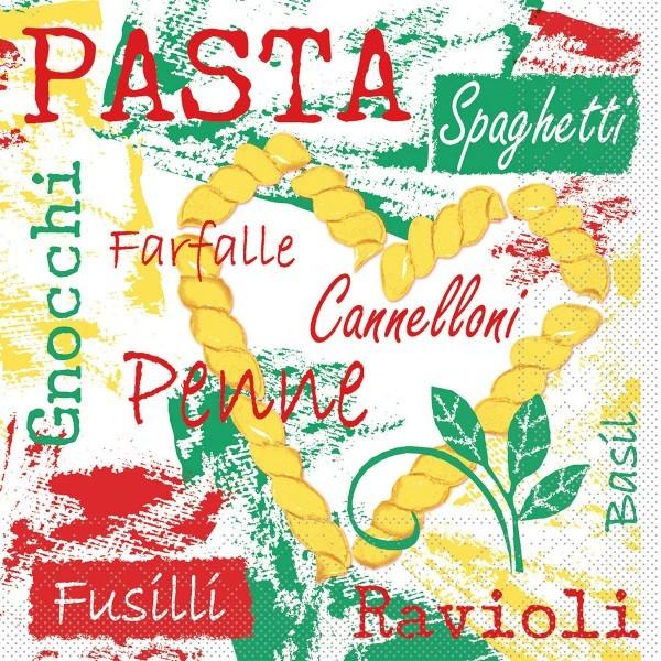 Serviette Pasta aus Tissue 33 x 33 cm, 20 Stück