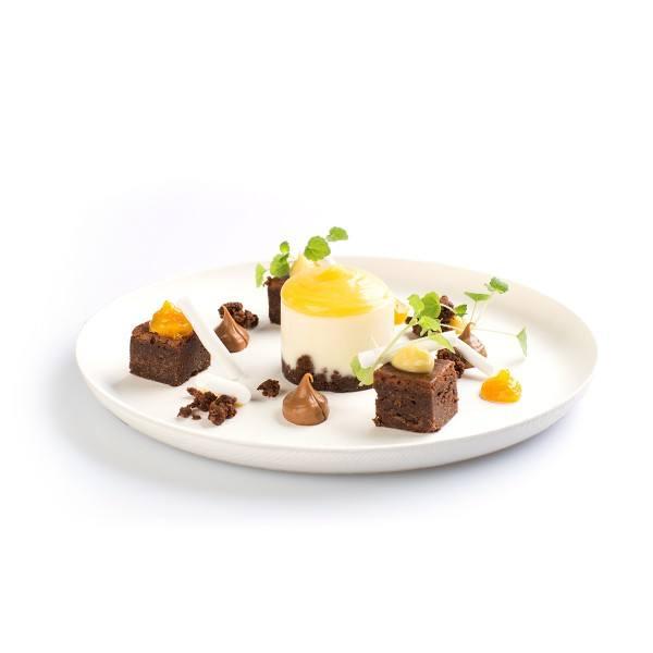 Teller aus Zuckerrohr in Weiss, rund, Ø 200 x h 15 mm, 40 Stück
