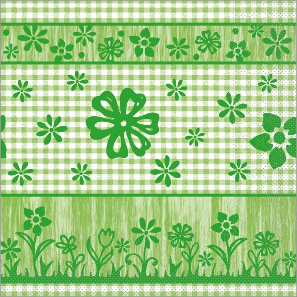 Serviette Joni in grün aus Tissue 40 x 40 cm, 100 Stück