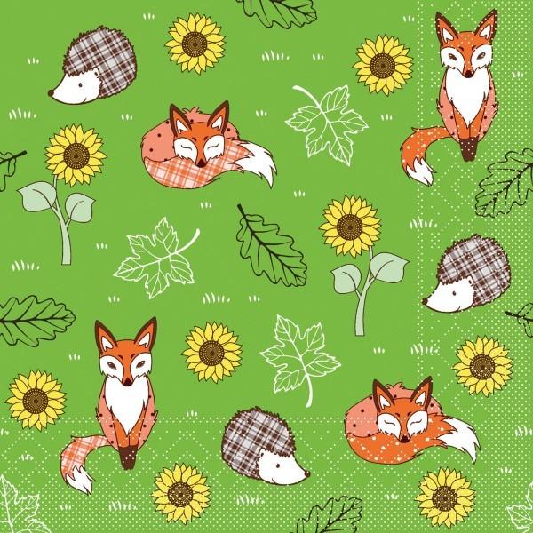 Serviette Florian in Grün aus Tissue 33 x 33 cm, 20 Stück