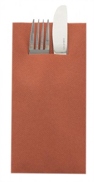Besteckserviette Terrakotta aus Linclass® Airlaid 40 x 40 cm, 100 Stück