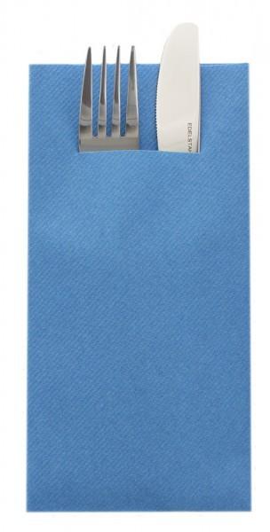 Besteckserviette Aquablau aus Linclass® Airlaid 40 x 40 cm, 75 Stück