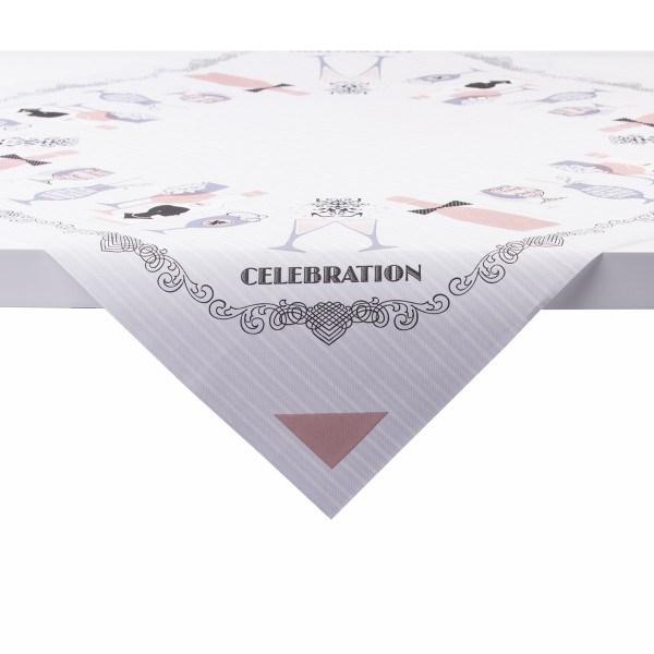 Tischdecke Celebration in Grau-Rosa aus Linclass® Airlaid 80 x 80 cm, 20 Stück