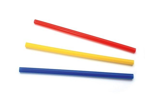 Trinkhalm aus Plastik, Unifarben, farblich sortiert, Ø 10 mm / 23 cm, 250 Stück