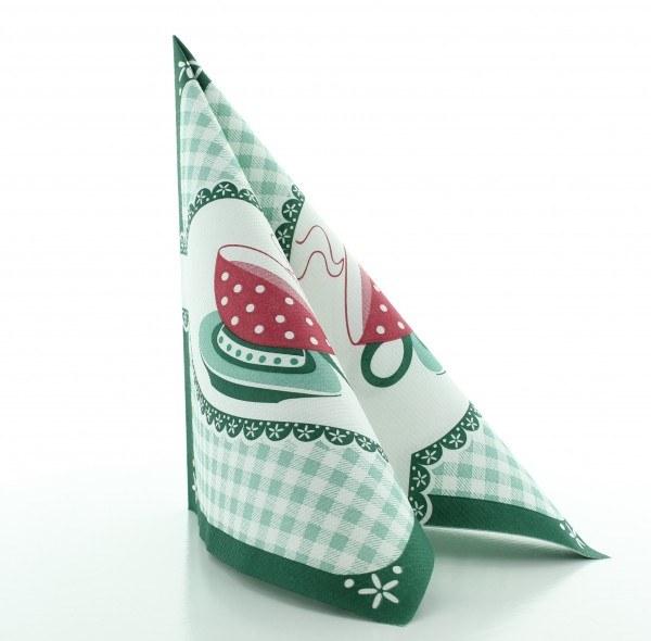 Serviette Kathrin in Grün aus Linclass® Airlaid 40 x 40 cm, 50 Stück