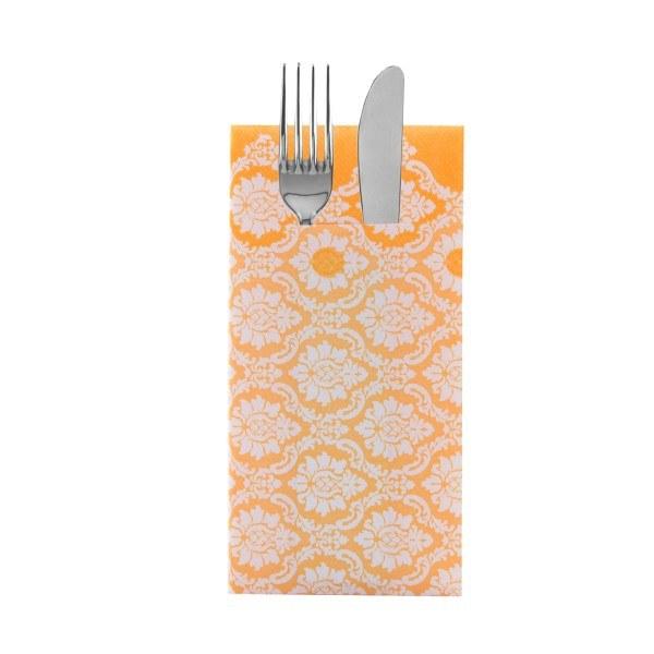 Besteckserviette Mandy in curry aus Linclass® Airlaid 40 x 40 cm, 100 Stück