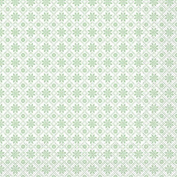 Serviette Country-Crystal in Grün aus Tissue 33 x 33 cm, 100 Stück