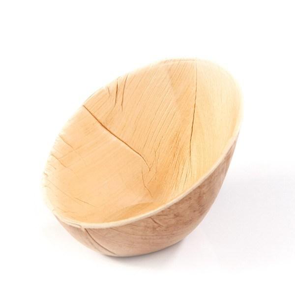 Schale aus Palmblatt, oval, 14 x 10 cm, 20 Stück