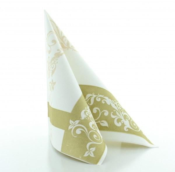 Serviette Hochzeit in Gold aus Linclass® Airlaid 40 x 40 cm, 50 Stück