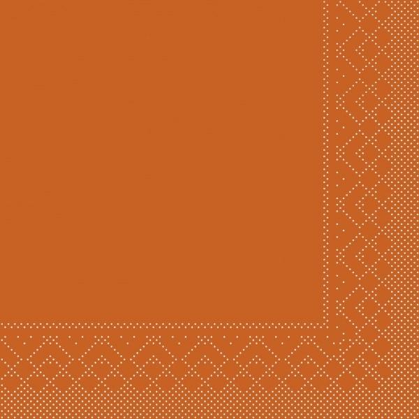 Serviette Terrakotta aus Tissue 40 x 40 cm, 20 Stück
