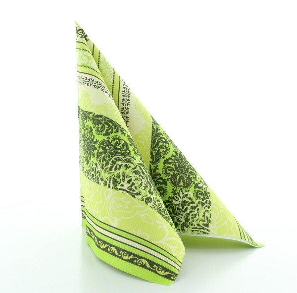 Serviette Thea in lime aus Linclass® Airlaid 40 x 40 cm, 50 Stück