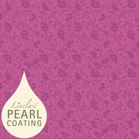 Tischdecke Liv in beere mit Pearl Coating (wasserabweisend) 80 x 80 cm, 15 Stück