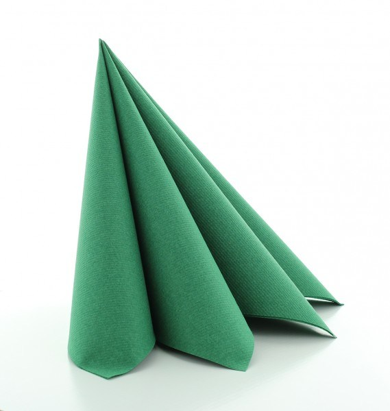 Serviette Dunkelgrün aus Linclass® Airlaid 40 x 40 cm, 12 Stück