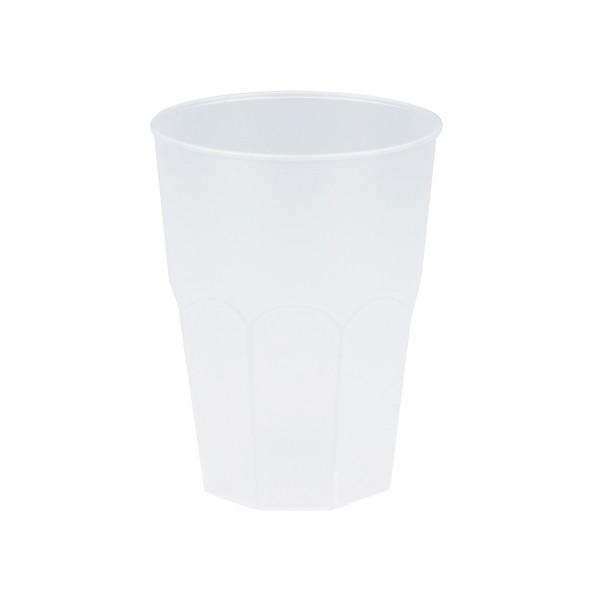 Mehrweg-Cocktailglas aus Plastik, Transparent-gefrostet, 420ml, 6 Stück