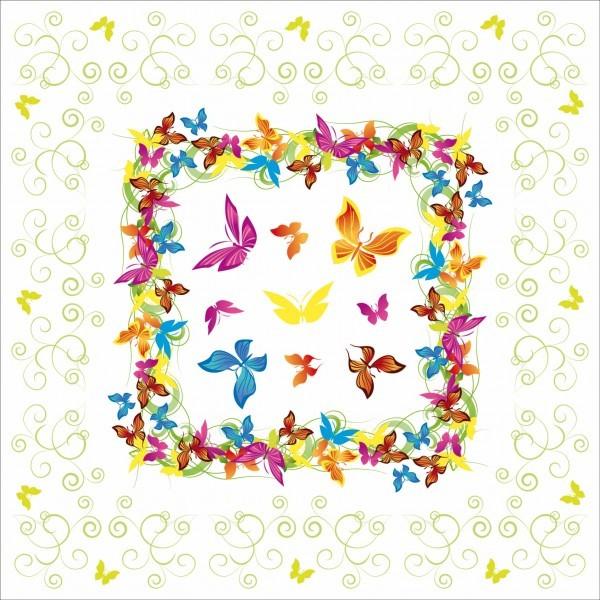 Tischdecke Papillon aus Linclass® Airlaid 80 x 80 cm, 1 Stück