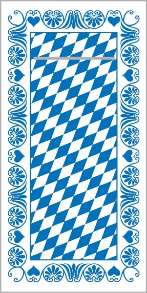 Besteckserviette Bavaria in Blau aus Tissue-Deluxe, 4-lagig, 40 x 40 cm, 100 Stück
