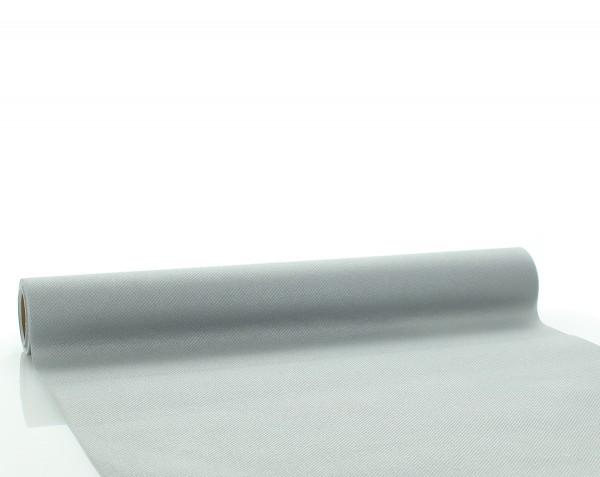 Tischläufer Silber aus Linclass® Airlaid 40 cm x 4,80 m, 1 Stück