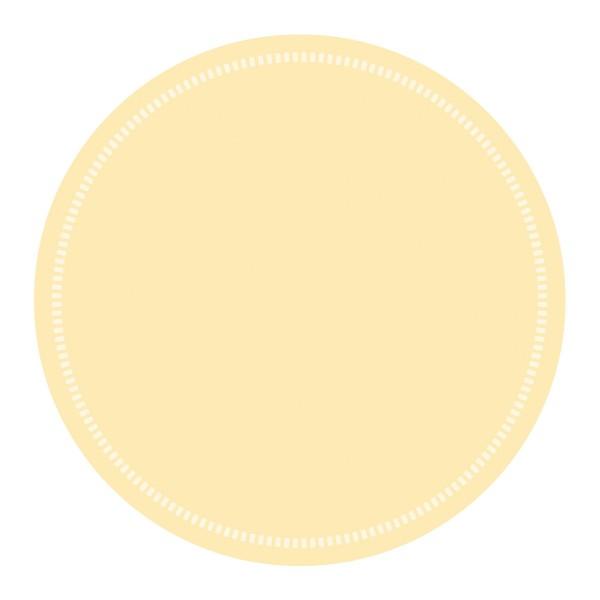 Tassen-Deckchen Basics Creme aus Tissue 9-lagig, Ø 90 mm, 250 Stück