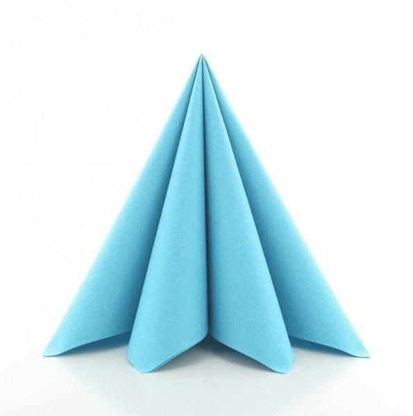 Serviette in Sky aus Linclass® Airlaid 40 x 40 cm, 50 Stück