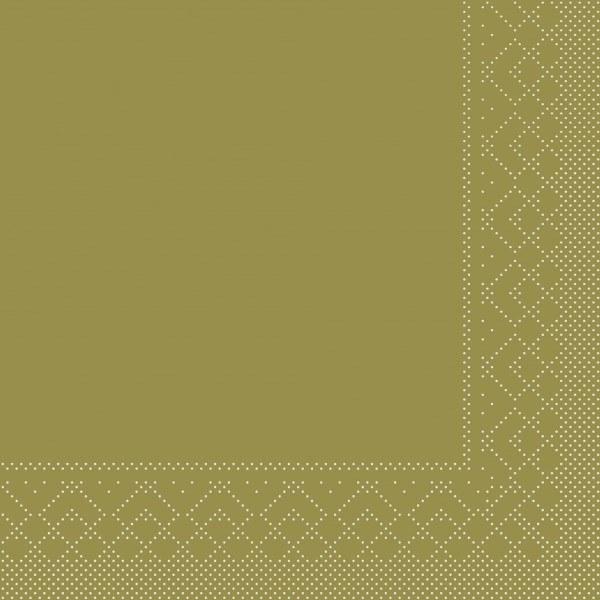 Serviette Gold aus Tissue 40 x 40 cm, 20 Stück