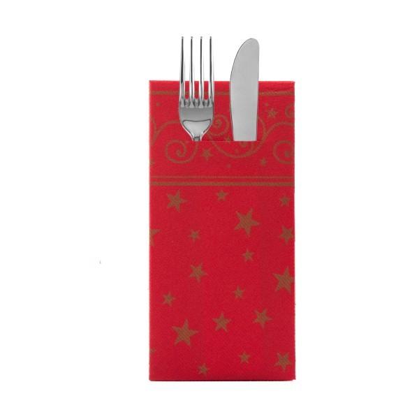 Besteckserviette Liam in Rot aus Linclass® Airlaid 40 x 40 cm, 100 Stück