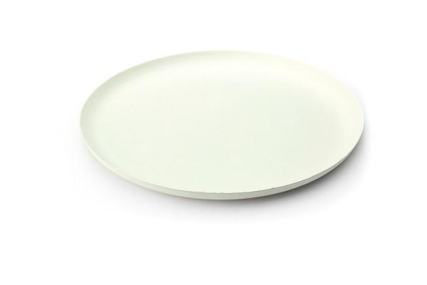 Teller aus Zuckerrohr in Weiss, rund, Ø 240 x h 15 mm, 40 Stück